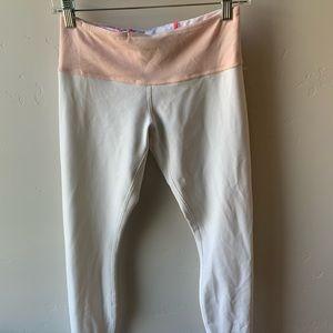 lululemon white/pink reversible leggings